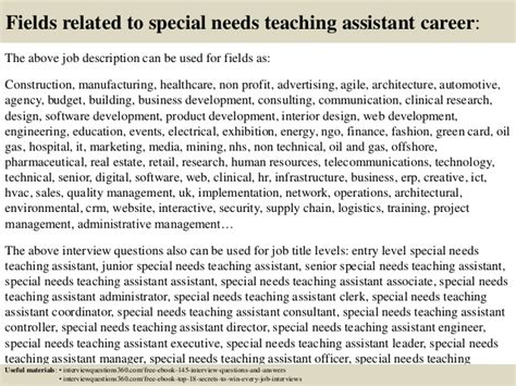 cover letter for special needs assistant top 10 special needs teaching assistant