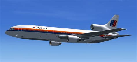 united flight united airlines lockheed l 1011 for fsx