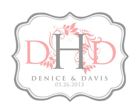 monogram template signatures by wedding stationery for denice