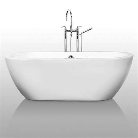 self standing bathtubs wyndham collection wcobt100268 white soho 68 quot free