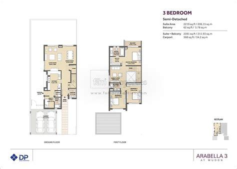 5 bedroom townhouse floor plans floor plans arabella townhouses dubai land by dubai