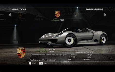 speed chions porsche 918 spyder porsche 918 spyder need for speed pursuit video games