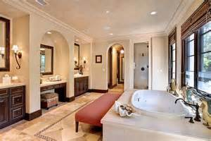 big bathroom separate sinks center vanity big tub