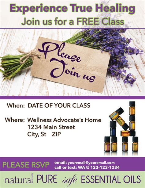 Doterra Flyer Templates X Class Invitation Ins With All Natural Images Doterra Essential Oils Doterra Invite Template