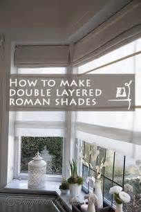 Warm Window Roman Shades - how to make double layered roman blinds