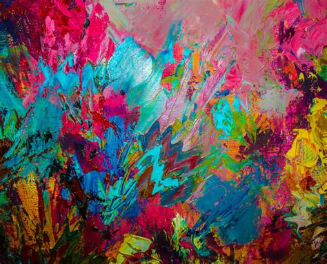 original abstract colorful original abstract painting background stock