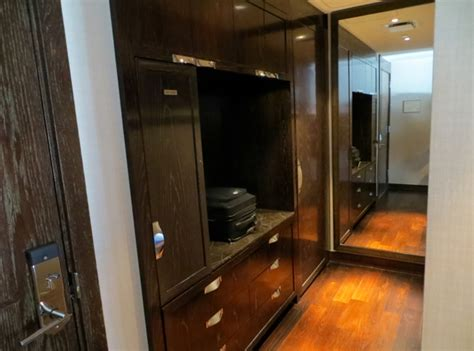 there s a whole universe of closet space hidden under this bed curbed mandarin oriental las vegas hotel review