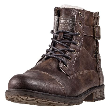 mens ankle boots lace up mustang lace up boot mens ankle boots in brown