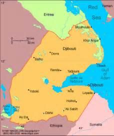 Djibouti Africa Map by Djibouti