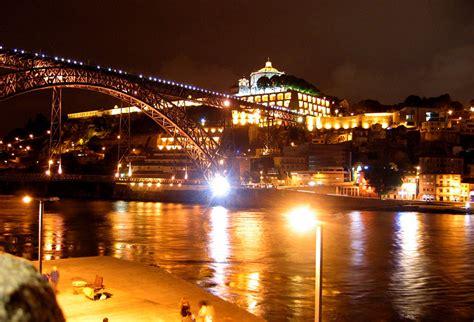 nightlife in porto dom luis bridge by porto portugal travel guide