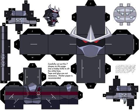Tmnt Papercraft - 2003 shredder by cubeecraft on deviantart