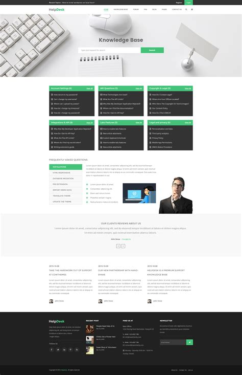 knowledge base design template helpdesk knowledge base wiki faq psd template by