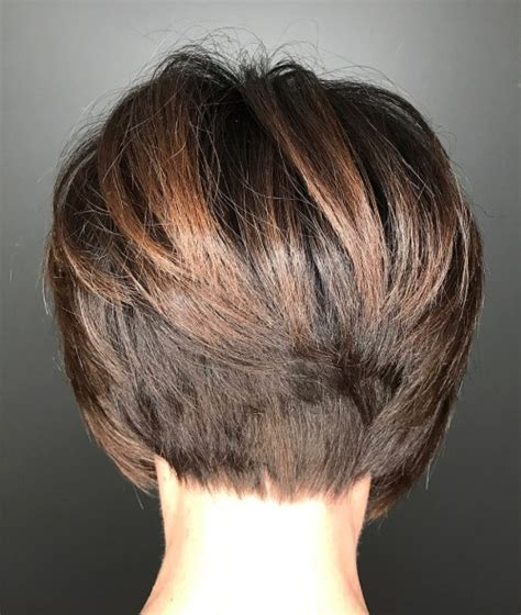 short bob styles with a subtle stacking 60 classy short haircuts and hairstyles for thick hair