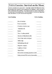 Team Building Worksheets For Adults by Nasa Team Building Exercise Page 4 Pics About Space
