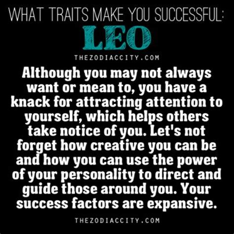 leo traits make you successful astrology pinterest