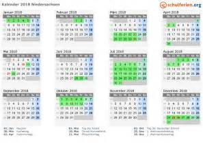 Kalender 2018 Mit Feiertagen Kalender 2018 Ferien Niedersachsen Feiertage