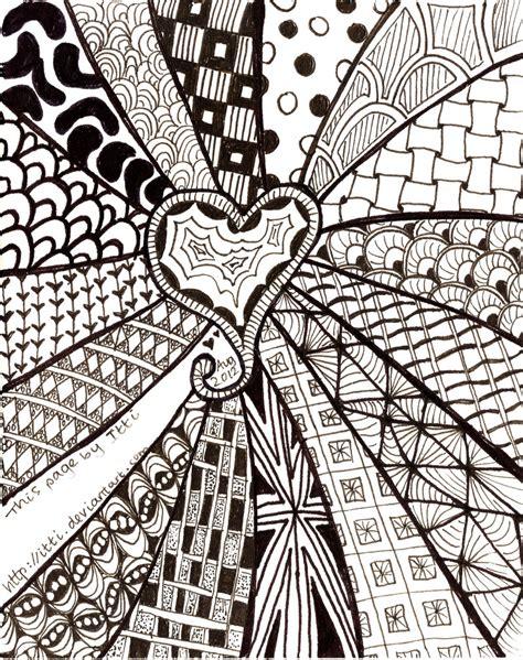 zentangle design zentangle heart by itti on deviantart