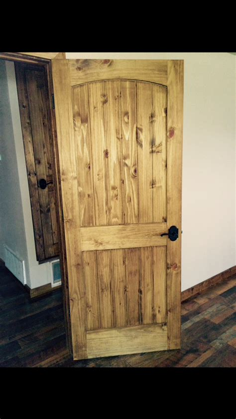 pine wall with glass doors my doors knotty pine doors with minwax early american