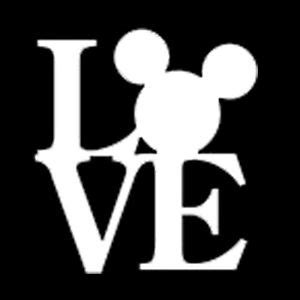 Minnie Mouse Wall Stickers mickey mouse head love vinyl decal graphics disney window