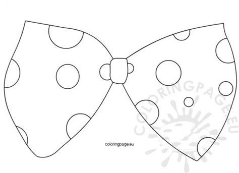 bowtie template carnival coloring page