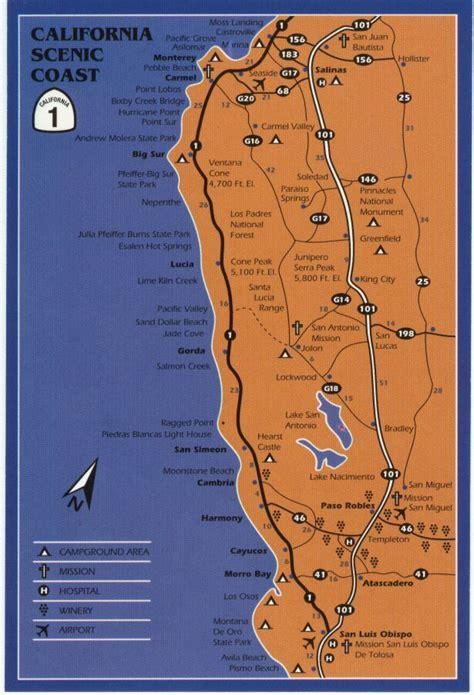 big sur map big sur coastal drive map future trip across the united