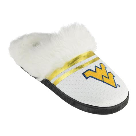 college slippers ncaa s west virginia mountaineers white