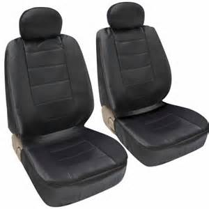 Car Seat Covers Set Walmart Motor Trend Synthetic Leather Car Seat Covers Front Pair