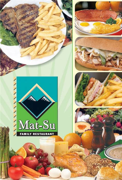 Mat Su Family Restaurant Llc Wasilla Ak by Mat Su Graphic Menus Inc