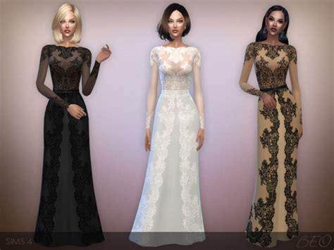 lace shirt the sims 4 lace long dress at beo creations 187 sims 4 updates