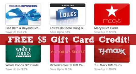Free Gifts With Credit Cards - free 5 gift card credit to raise shesaved 174