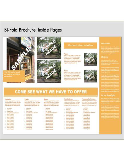 Bi Fold Brochure Paper - bi fold brochure front and back free