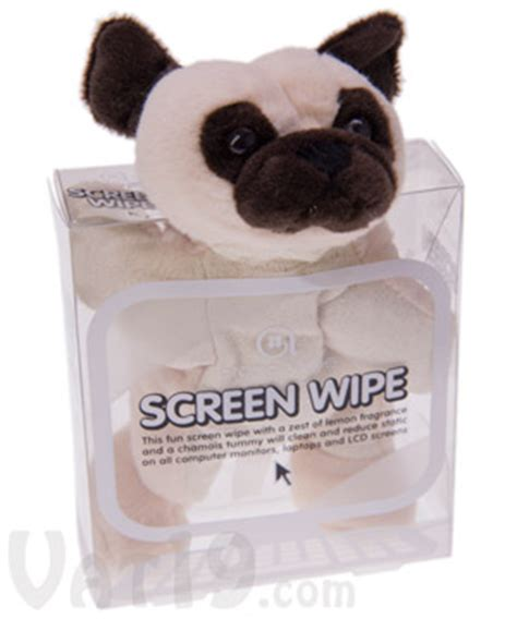 pug cleaning computer screen computer care screen wipes