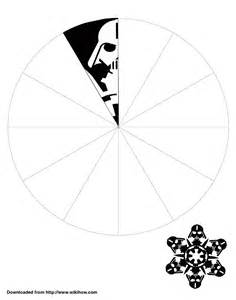 wars snowflake templates free printable darth vader snowflake template wikihow