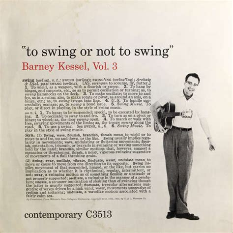 barney kessel to swing or not to swing to swing or not to swing vol 3 1955 by barney kessel