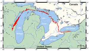 map of michigan and ontario canada map of canada and michigan