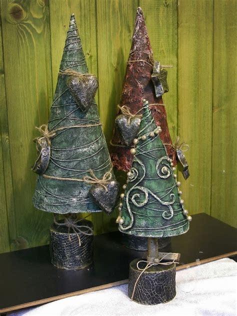 paper mache christmas tree paper mache pinterest