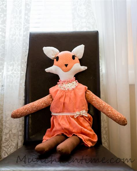 Handmade Doll Tutorial - look i made my handmade fox doll with easy