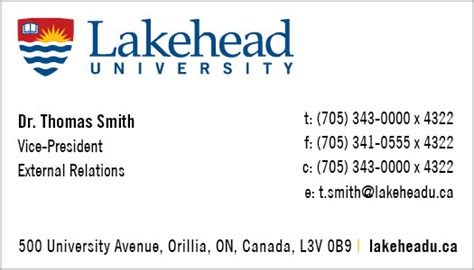 vice president business card template business cards lakehead