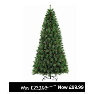 home base artificial christmas trees artificial 8ft dew drop tree 163 30 homebase hotukdeals