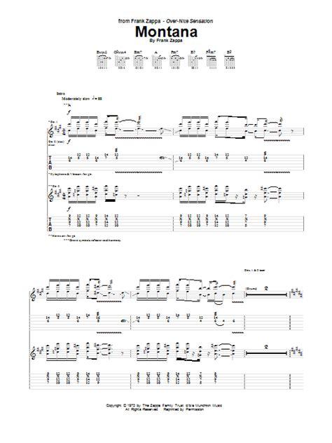 sofa no 2 lyrics montana guitar tab by frank zappa guitar tab 150351