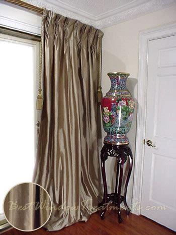taupe silk curtains thai silk pleated draperies in taupe silk