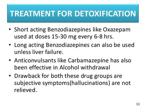 Oxazepam In Detox Withdrawal by