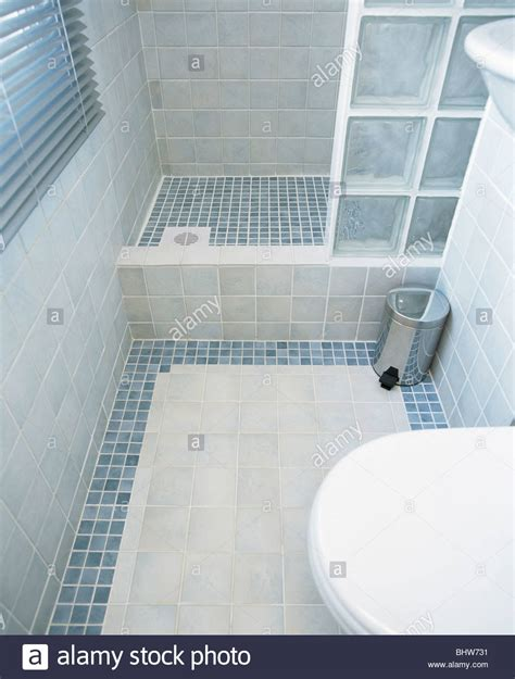 modern tiled bathrooms modern tiled bathroom with glass brick shower wall and