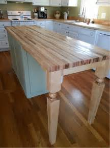 Kitchen Islands With Butcher Block Tops hard maple island leg a perfect fit for kitchen design