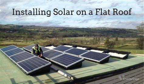 solar panels on roof solar panels for flat roofs 3 things you should