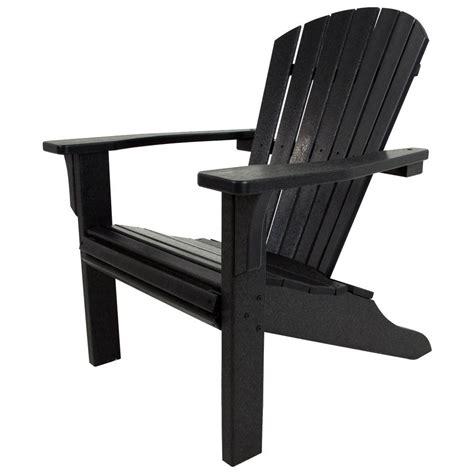 black adirondack chairs home depot polywood seashell black patio adirondack chair sh22bl