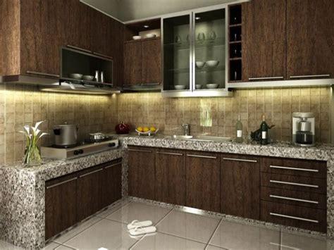 Minimalis Brown affordable minimalist brown kitchen design 4 home ideas