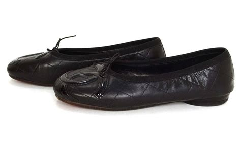 Chanel Quilted Ballet Flats by Chanel Black Quilted Leather Cambon Ballet Flats Sz 38 For Sale At 1stdibs