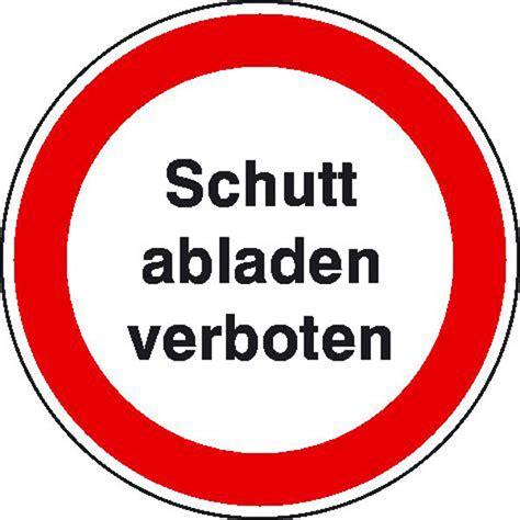 Baustellenschild Zeichen by Schutt Abladen Verboten