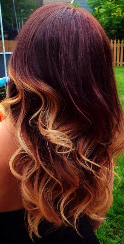 mahogany brown hair but want highlights what will it look like mahogany ombr 233 hair pinterest color combos style